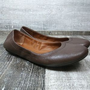 LUCKY BRAND LK EMMIE Ballet Flat Shoes Dark Brown